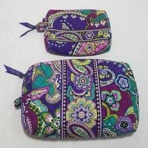 Vera Bradley cosmetic pouches